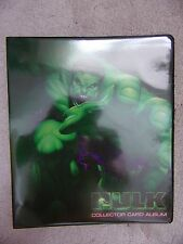 HULK- Collector Card Album FOLDER / BINDER MArvel From Cards Inc