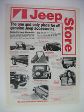 1980 JEEP STORE ACCESSORIES USA MAGAZINE FULLPAGE ADVERTISEMENT