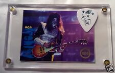 KISS Ace Frehley very limited foil chase card / tour guitar pick display #J7