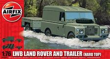 Airfix A02324 1/76 Plastic British LWB Land Rover and Trailer (Hard Top)