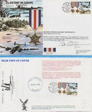 MAJOR PAT PORTEOUS VC Signed Victory In Europe FDC VICTORIA CROSS COA