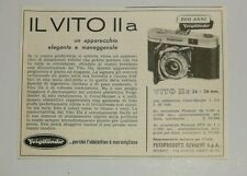 Pubblicità vintage 1956 VITO VOIGTLANDER FOTO PHOTO advertising reklame werbung