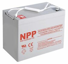 NPP 12V 80Ah 90Ah 280W High Rate AGM Deep Cycle SLA Long Life UPS Battery