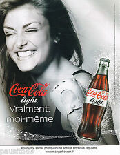 PUBLICITE ADVERTISING 065  2010  COCA-COLA light  soda