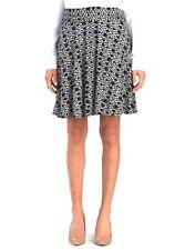 Max Studio - M - NWT $68 - B&W Tribal Ikat Print Jersey Knit Fold-Over Skirt