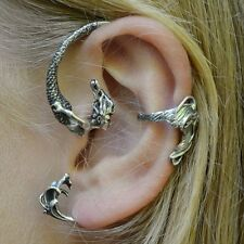 Mermaid Ear Cuff Unique Vintage Style jewelry earring accent Silver tone NEW