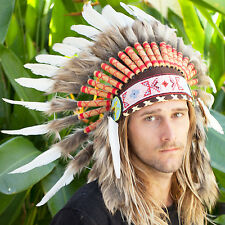 SALE PRICE!! Feather Headdress - Native American Indian style - White Duck