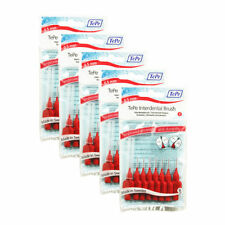 TEPE Interdental brush 0.5mm 5 pack of 8 BRUSHES RED