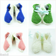 Wholesale Lots 4 boxes Crochet baby booties shoes Newborn Baby girl/boy 0-6 Mon