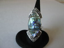 Bali Legacy Abalone Shell Sterling Silver Ring (Size 6) TGW 15.00 cts.