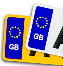 Pair GB Euro Number Plate Vinyl Stickers For EU European travel car decal badge