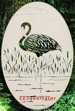 New Oval 8x12 FLAMINGO RIGHT STATIC CLING WINDOW DECAL Tropical Bird Decor