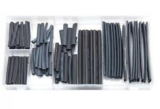 127PC heat shrink wire wrap cable gaine manches ensembles heatshrink tubes noir