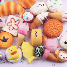 Cool 30x Jumbo Medium Mini Squishy Soft Lot Toast/Panda/Bread/Cake Phone Straps