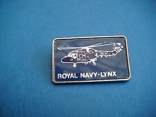 ROYAL NAVY LYNX HELICOPTER PLASTIC INSERT PIN BADGE
