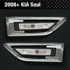 Side Fender Signal Lamp Light Chrome Molding Cover RH+LH For KIA 2008-2013 Soul
