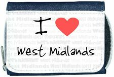 I Love Heart West Midlands Denim Wallet