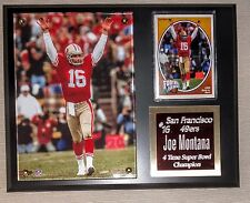 "Joe Montana #16 GREAT GIFT SF 49ers w/ Sport Card Plaque 8"" x 10"" Black Board"