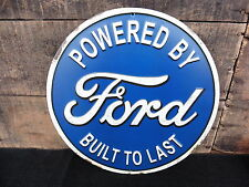 Powered By FORD Built To Last !! Truck Logo Garage Shop Embossed Car METAL SIGN