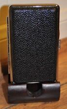 2 X  Leather Metal Cigarette Case 100's /Black&dot Design /B.card &money holder