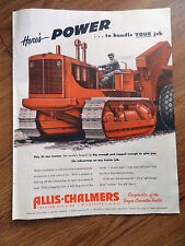 1951 Allis-Chalmers Ad This 21 Ton TractorModel HD-20