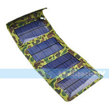 New! 7W Folding Cell Phone Solar Panel Power Charger Battery for iPhone Samsung