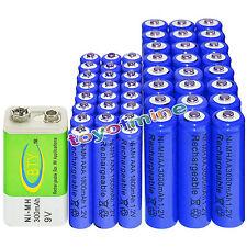 24xAA 3000mAh+24x AAA 1800mAh 1.2V NI-MH batteria ricaricabile+1x BTY 9V 300mAh