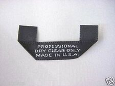 50 Black Woven Clothing Care Labels Professional Dry Clean Only Made in U.S.A.