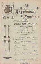 A3048) FOGGIA, 14 FANTERIA BRIGATA PINEROLO. PROGRAMMA MUSICALE 30/6/12.