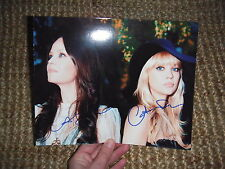 The Pierces signed autograph on 8x10 photo IP