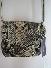 NWT $295 REBECCA MINKOFF Leather Python Snake Print Crossbody May May Bag NEW