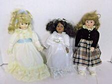 Porcelain Dolls Avon Bride, Victorian, and Vintage Lot of 3