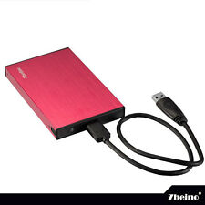 Zheino 2.5 Inch Aluminum SATA to USB 3.0 HDD SSD External Hard Drive Enclosure