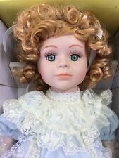 "Connoisseur Collection by Seymour Mann Porcelain Doll 18"" Mary Beth Box COA QVC"