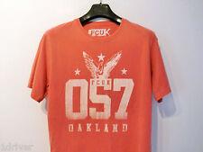 Mens FCUK T-Shirt Size Medium Pastel Pink Vintage Wash