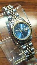 Helbros H Quartz Blue Analog Face Women's Water Resistant Wrist Watch *READ*