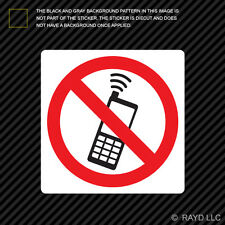 No Cell Phone Zone Sticker Decal Self Adhesive Vinyl mobile type c