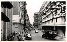 HONG KONG,  Busy Street Scene, Duddell Street - Postcard sized Photo 1950/ 60's