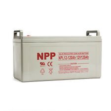 NPP 12V 120 Amp 12 Volt 120Ah Rechargeable Wind Solar Sealed Lead Acid Battery