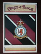 POSTCARD NO 243 SQUADRON RAF CREST BADGE OF THE ARMED FORCES