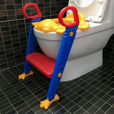Baby Foldable Potty Chair Kids Potty Training Toilet Seat Non-Slip Step Ladder