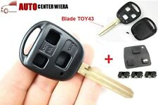 Toyota Avensis Corolla Camry RAV4 3 button Remote Key Fob Case TOY43 &Repair Kit