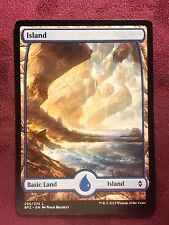 Battle for Zendikar Full Art Land  Island #255  VO  -  MTG Magic (Mint/NM)