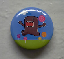 "BRAND NEW Lollipop Domo kun 1.25"" Button Pin ~ Officially Licensed"