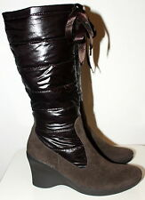 Fly Foz quilted brown winter boots women Eur 36 US 5.5 UK 3.5 Used from Italy