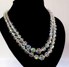 Sparkling, Vintage, Double Strand, Aurora Borealis Necklace  (L251)