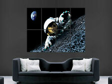 SPACE ASTRONAUT MAN ON THE MOON  ART WALL LARGE IMAGE GIANT POSTER