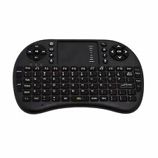 Negro Ruso Teclado 2,4 GHz Rii i8 Wireless- Panel táctil para TV BOX portátil PC