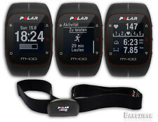 Polar M400 GPS Watch Black w/ H7 HRM Heart Rate Monitor Band Fitness Run Sport