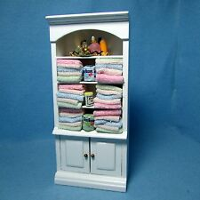 Dollhouse Miniature Bathroom Cabinet with Lots of Accessories ~ WF144